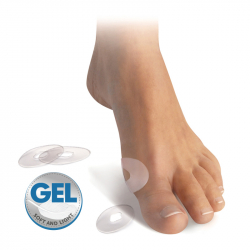 Self-adhesive gel oval
