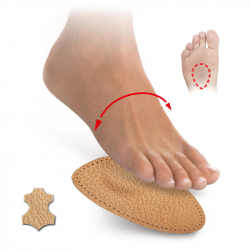 Tip-toes with metatarsal pads − leather