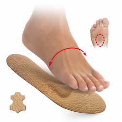 Insoles with metatarsal pads-leather