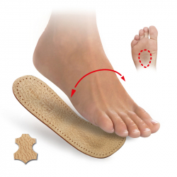 3/4 insoles with metatarsal pads