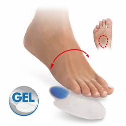 Gel tips with metatarsal pad