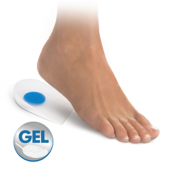 Gel heel pads with heel cup