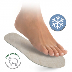 Wool + aluminium foil insoles winter