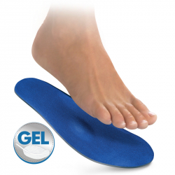 Gel insoles with velour
