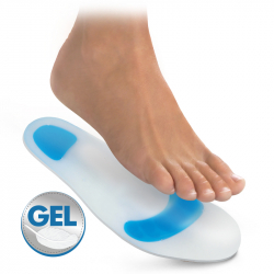 Gel insoles with soft impact areas