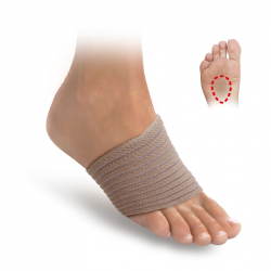 Elastic bandages with metatarsal pads