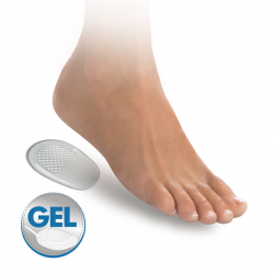 Self-adhesive gel heel cushiones